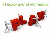 Tư vấn lập kế hoạch bảo vệ môi trường