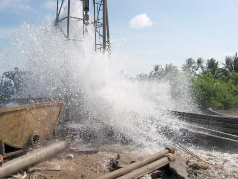 báo cáo tình hình khai thác nước ngầm